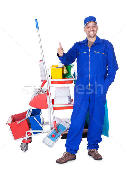 Portrait Of Smiling Cleaner Stock photo © AndreyPopov