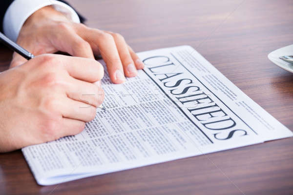 Stock photo: Businessman Reading Newspaper