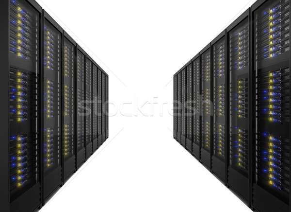 Two lines of server racks Stock photo © AndreyPopov