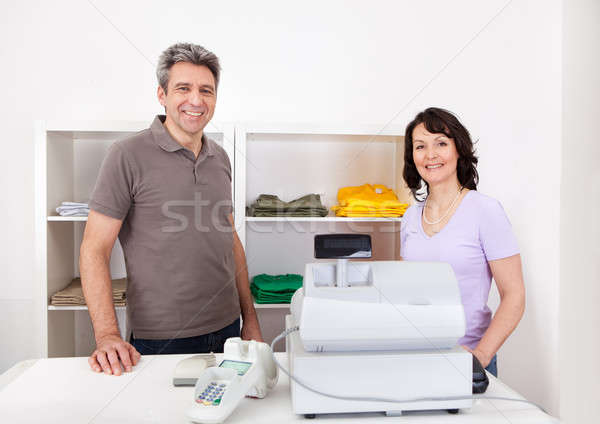 Two sales  persons in the shop Stock photo © AndreyPopov