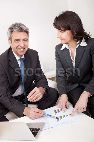 Two business people at the meeting Stock photo © AndreyPopov