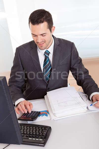 Księgowy pracy biuro udany finansowych danych Zdjęcia stock © AndreyPopov