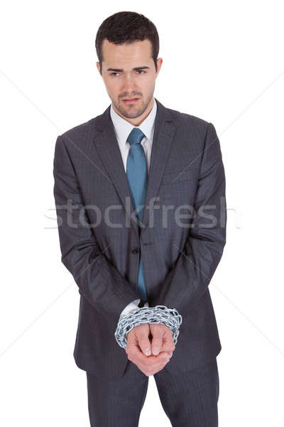 Businessman hands bound in chains Stock photo © AndreyPopov