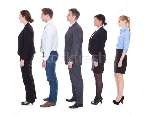Business People  In A Line Stock photo © AndreyPopov