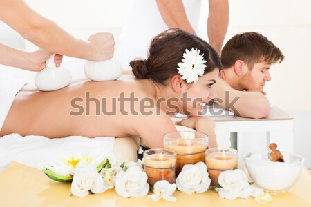Couple Receiving Lastone Therapy Stock photo © AndreyPopov