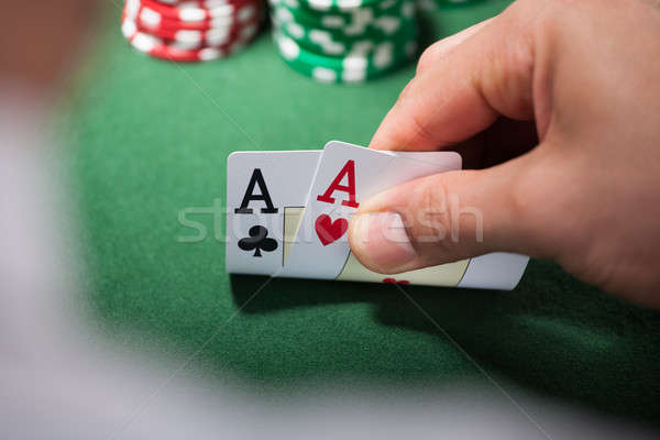 Homme deux casino mains Photo stock © AndreyPopov