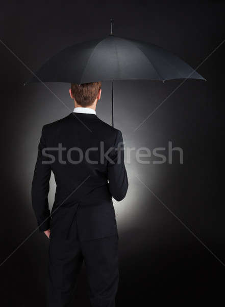 Businessman With Umbrella Stock photo © AndreyPopov