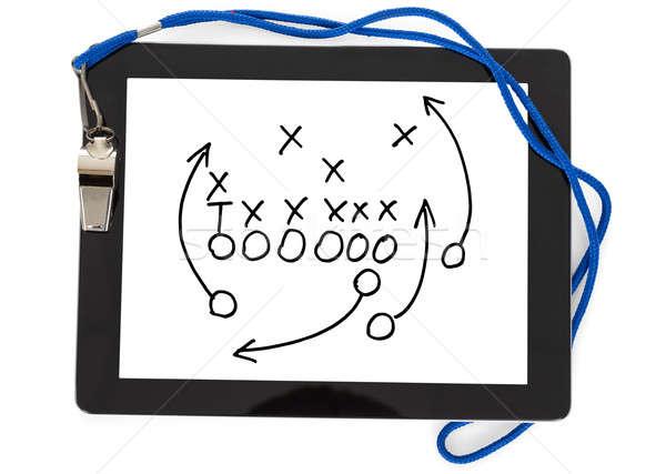 Futebol estratégia assobiar digital comprimido esportes Foto stock © AndreyPopov