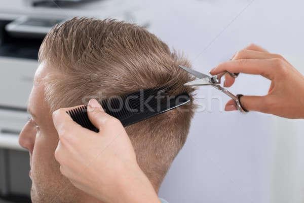 Homme salon de coiffure salon jeune homme Homme Photo stock © AndreyPopov
