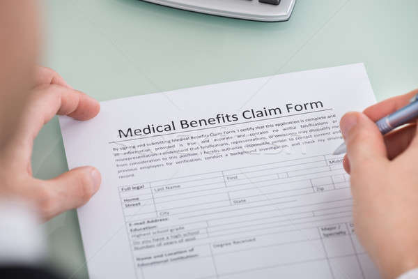 Osoby strony medycznych korzyści dochodzić formularza Zdjęcia stock © AndreyPopov