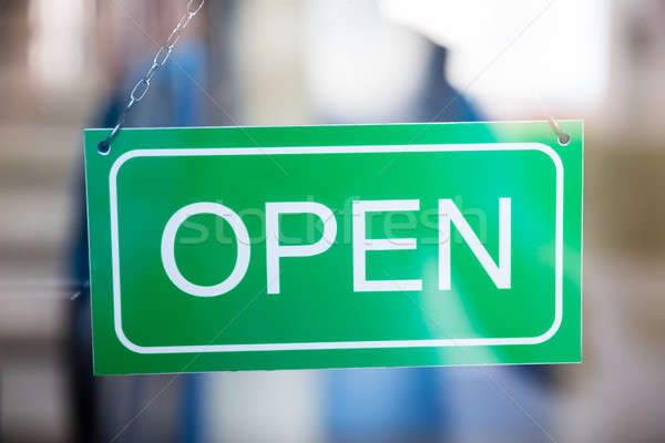 Open Tag Inside The Window Stock photo © AndreyPopov
