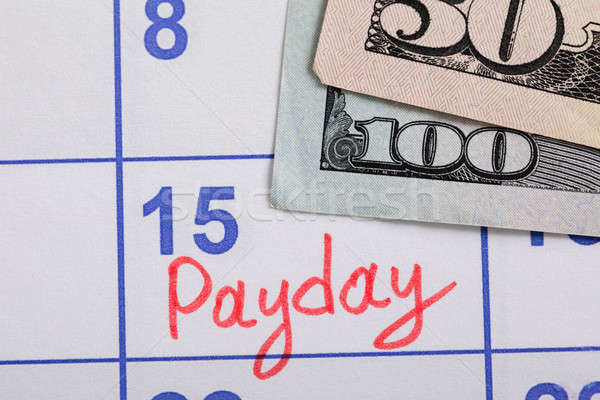 Close-up Of Pay Day Reminder On Calendar Stock photo © AndreyPopov