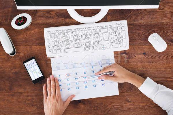 бизнесмен дата календаря мнение Сток-фото © AndreyPopov