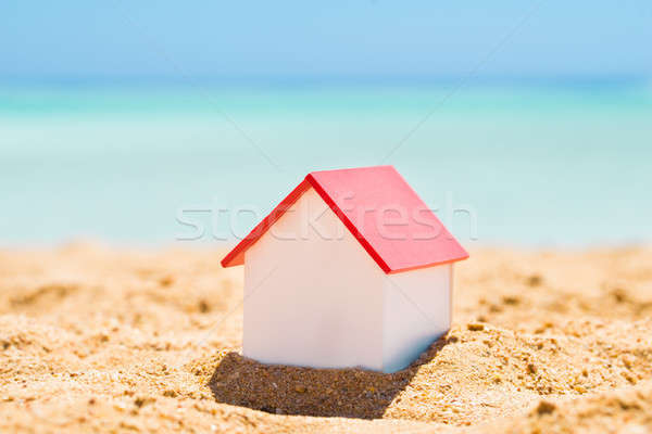 Photo stock: Maison · modèle · plage · sable · nature · été