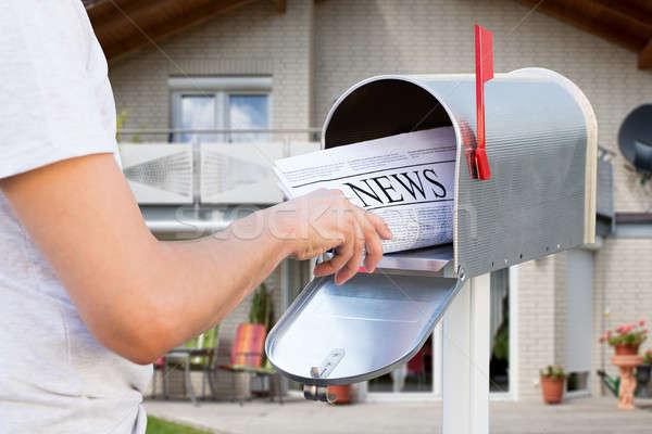 Strony gazety poczty domu Zdjęcia stock © AndreyPopov