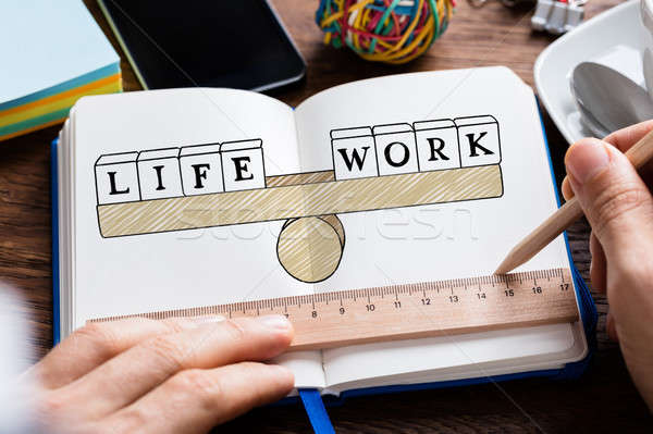 Person Drawing Life Work Concept In Book Stock photo © AndreyPopov