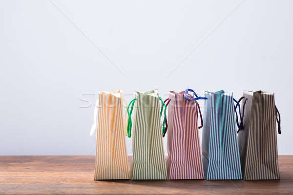 Row Of Colorful Shopping Bags Stock photo © AndreyPopov