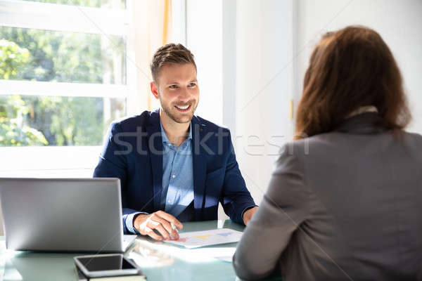 Businessman Looking At Job Candidate Stock photo © AndreyPopov