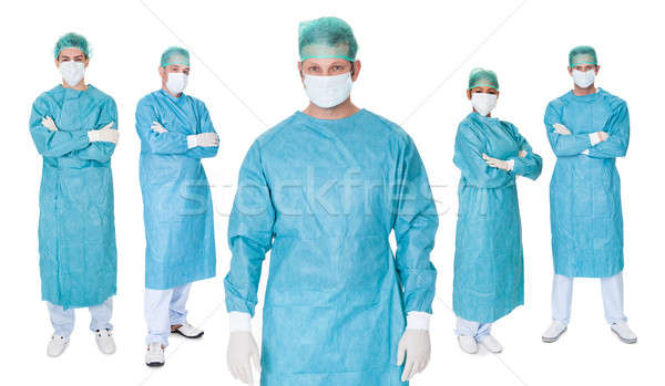 Group of surgeons over white Stock photo © AndreyPopov
