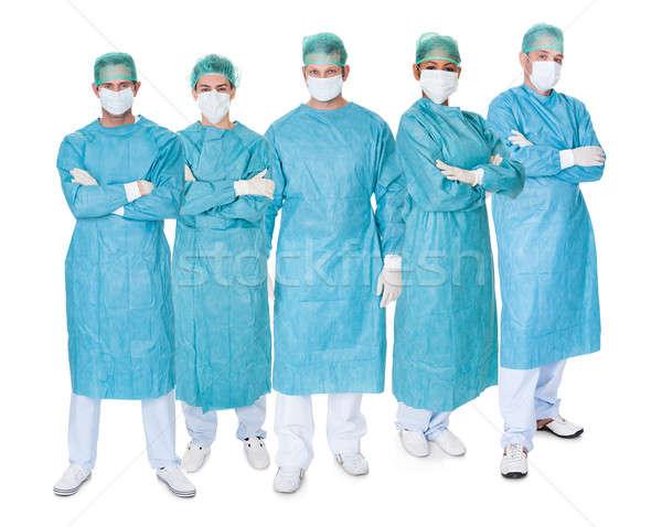 Grupo cirujanos blanco foto aislado mano Foto stock © AndreyPopov