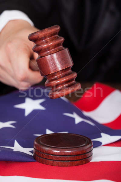Male Judge Striking The Gavel Stock photo © AndreyPopov