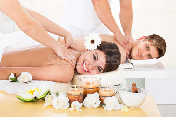 Stock photo: Couple Receiving Massage At Spa