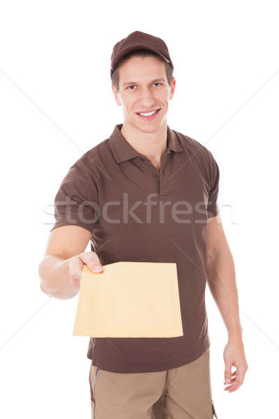 Happy Man Delivering Mail Stock photo © AndreyPopov