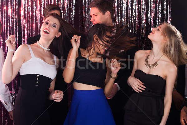 Femmes fête amis discothèque portrait Photo stock © AndreyPopov
