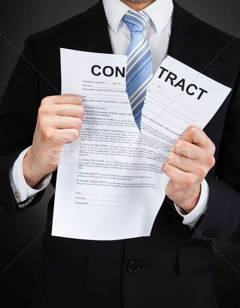 Businessman Tearing Contract Paper Stock photo © AndreyPopov