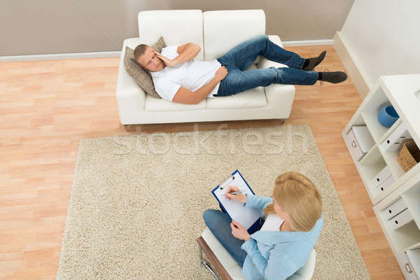 Stock photo: Patient Talking To His Psychiatrist