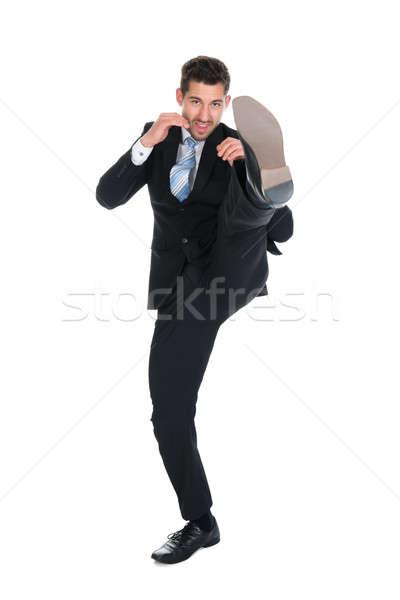 üzletember rúg fehér teljes alakos fiatal üzlet Stock fotó © AndreyPopov