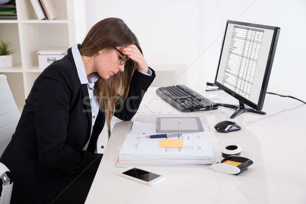 Stock photo: Businesswoman Suffering From Headache