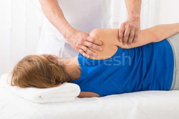 массажист руки массаж Spa женщину Сток-фото © AndreyPopov