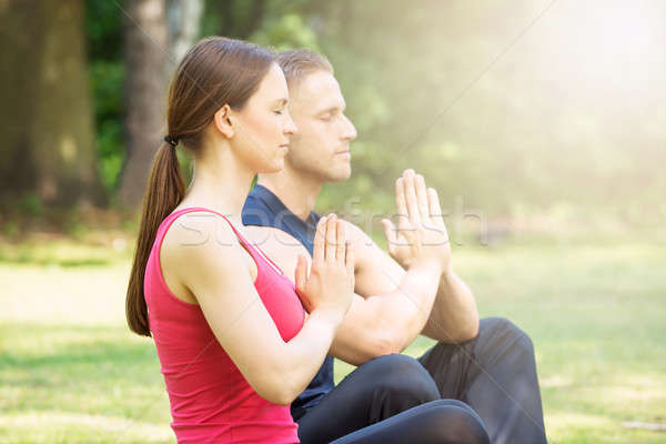 Young Couple Practicing Yoga Stock photo © AndreyPopov