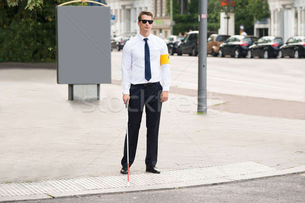 Blind Man Wearing Armband Stock photo © AndreyPopov