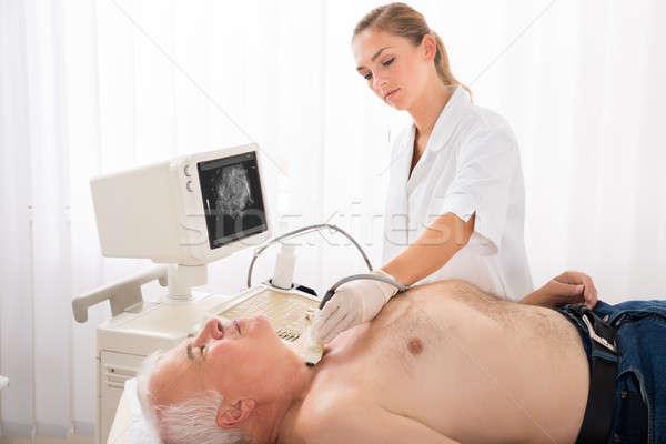 человека ультразвук сканирование шее врач старший Сток-фото © AndreyPopov
