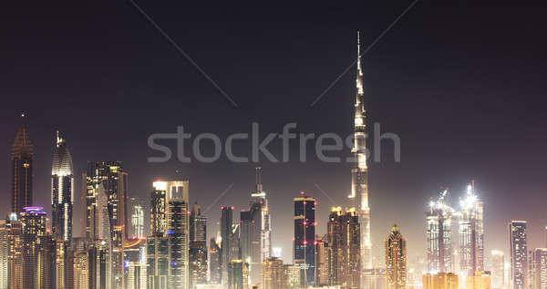 Skyline notte cielo notturno business cielo Foto d'archivio © AndreyPopov