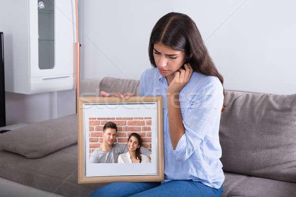 Mulher quadro de imagem casal amor triste Foto stock © AndreyPopov