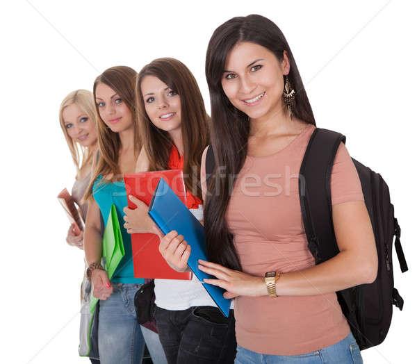 Stok fotoğraf: Dört · kadın · Öğrenciler · güzel · genç