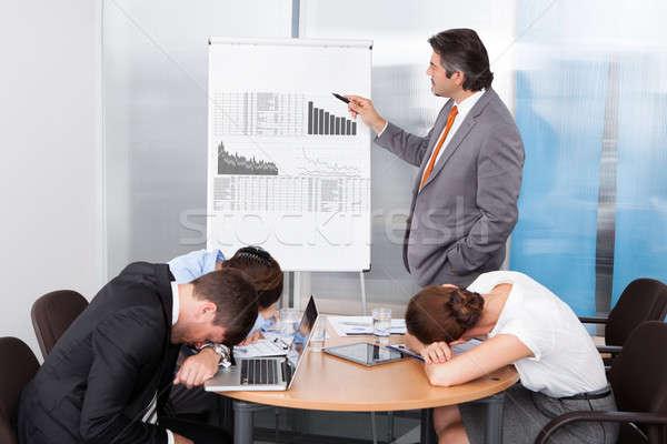 Stockfoto: Vervelen · presentatie · kantoor · vrouw · man