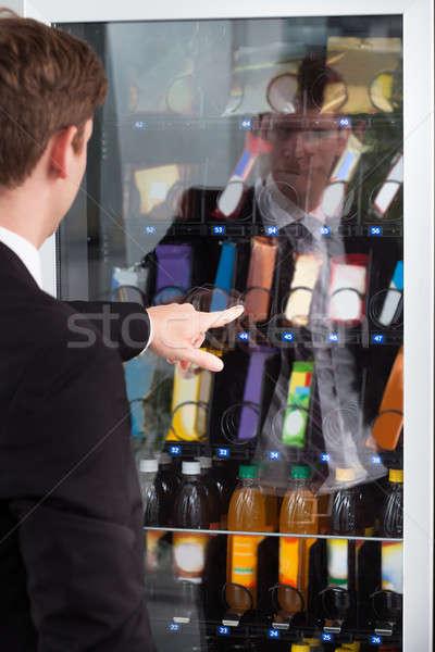 Mann Hinweis Schaufensterauslage Schokolade Display Kuchen Stock foto © AndreyPopov