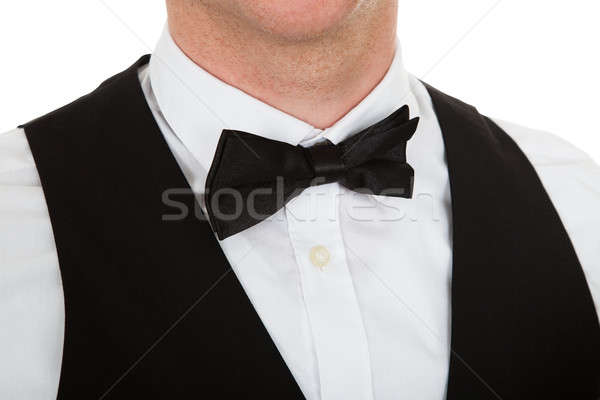 Close-up Of A Man Dressed In A Suit With Bow Tie Stock photo © AndreyPopov