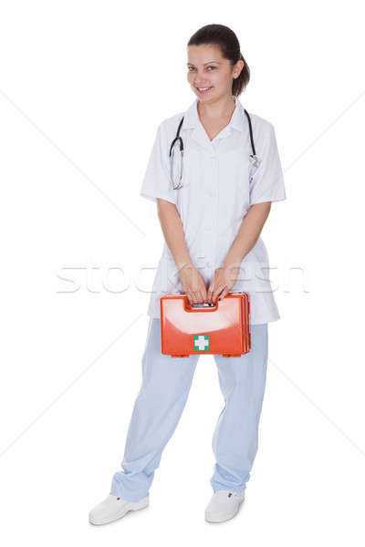 Foto stock: Enfermera · médico · primeros · auxilios · atractivo · jóvenes
