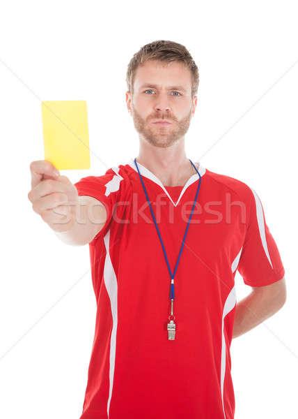Arbitro fischiare giallo carta Foto d'archivio © AndreyPopov