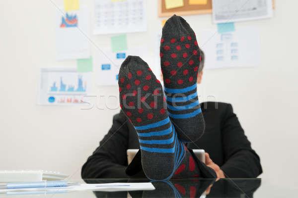 Imprenditore calze piedi primo piano digitale Foto d'archivio © AndreyPopov