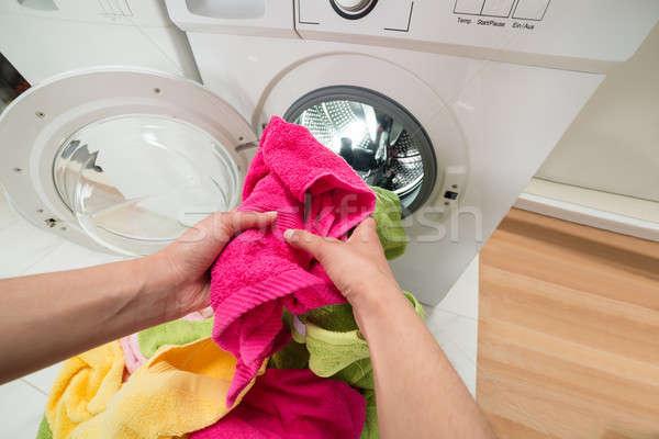 человек рук стиральная машина мнение Сток-фото © AndreyPopov
