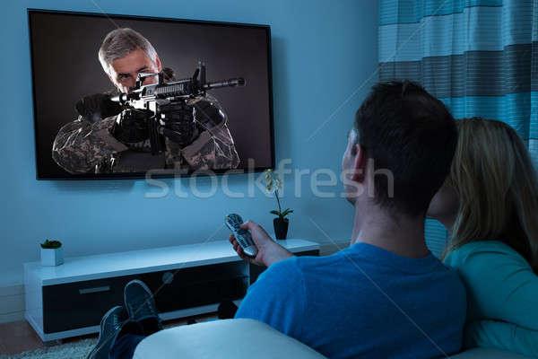 Stock photo: Couple Watching Film