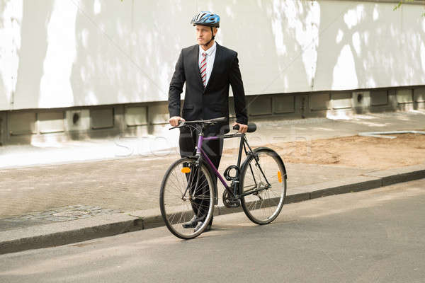Masculino ciclista bicicleta estrada capacete Foto stock © AndreyPopov