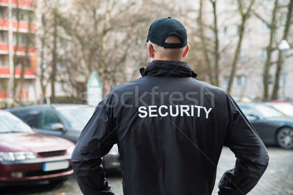 Security Guard Wearing Jacket Stock photo © AndreyPopov