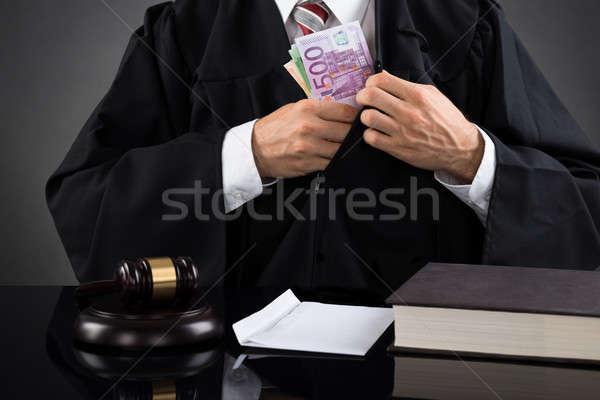 Juiz ocultação secretária masculino Foto stock © AndreyPopov